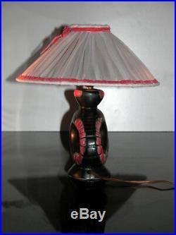 Jolie Lampe 1950 Céramique Oiseau À Identifier