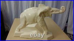 LEJAN Elephant en céramique Art Deco Craquelée DOLLY