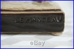 LEMANCEAU Charles (1905-1980) course de lévrier moulage en céramique ART DECO