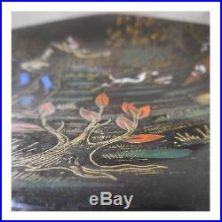 LONGWY Chasse céramique faïence plat assiette fait main art déco PN France N42
