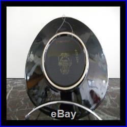 LONGWY Crépuscule céramique faïence assiette fait main art déco PN France N40