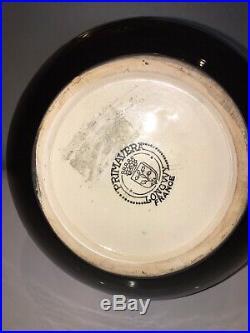 LONGWY PRIMAVERA Vase en céramique tamponnée. Art Déco