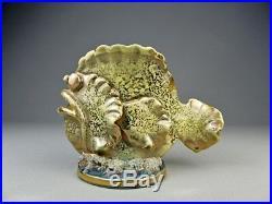LOUIS AUGUSTE DAGE vase céramique sculpture poisson art déco