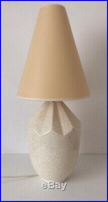 Lampe Art Déco en céramique craquelée 1930