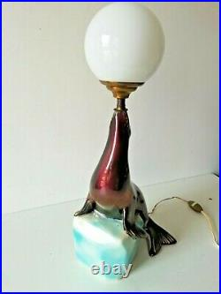 Lampe Otarie dans l'esprit de Marcel Bouraine vers 1950