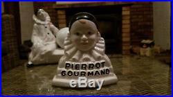 Lampe art déco Pierrot triste Céramique peinte main collection vintage