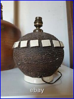 Lampe céramique Art déco Jean Besnard Primavera