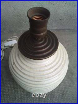 Lampe ceramique MADE IN FRANCE art deco PRIMAVERA lamp modernist ceramic