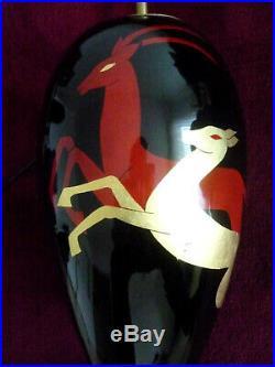 Lampe céramique style Art Déco