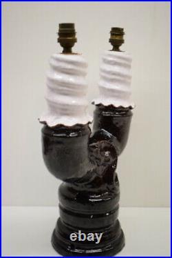 Lampe de table Céramique Art Déco Signée Jean Austruy vers 1950