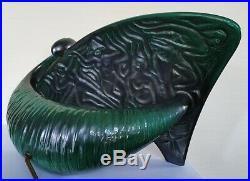 Lampe en céramique de forme libre. Décor africaniste années 50. Anzengruber