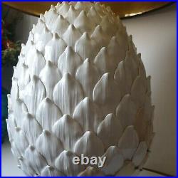 Lampe pomme de pin ceramique faience style charles luminaire light vintage