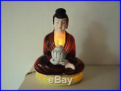 Lampe veilleuse porcelaine Asiatique début XXème