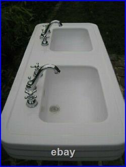 Lavabo double vasque art déco