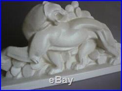 Lejan Orchies Panthere Dans Les Cactus Craquele Ceramique Art Deco 1930