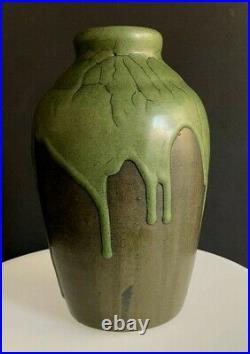 Leon Pointu, école de Carriès, grès de puisaye, Céramique-art deco-émaillé
