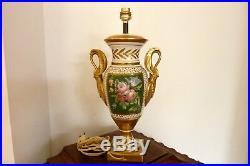 Limoges pied de lampe style Empire- Décorateur ECLV Réf 215