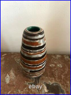 Louis Dage Vase en céramique émaillée Art Deco