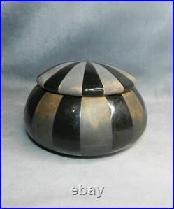 Magnifique Boite Couverte / Bonbonnière Céramique De Montières Art Déco