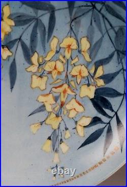 Magnifique Et Grand Plat En Ceramique Glycine Art Deco