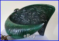 Magnifique lampe en céramique de forme libre. Décor africaniste années 50