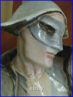 Magnifique sculpture Arlequin de Maurice Guiraud Rivière