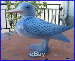 Mouette oiseau céramique signé Georges Cassin artiste animalier Art Déco