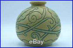 Mougin Nancy Ventrillon vase boule céramique Art Déco décor d'escargots
