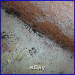 N2211 Cache-pot céramique terre cuite vernissée vintage art nouveau déco XXe PN