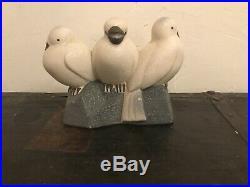Oiseaux en céramique crispée Sèvres Vinsare France années 30 art déco
