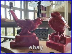 Oiseaux moineaux art déco 1930 Henri Guingot Saint Clément céramique barbotine