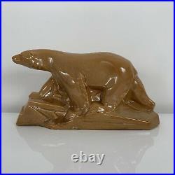 Ours polaire en céramique Art Déco Dax Edouard Cazaux