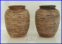 Paire de Vases signés Louis Dage. Art déco. Années 30. Céramique