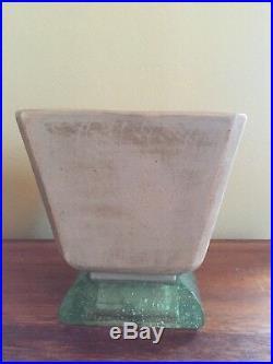 Paire de lampes Art Deco céramique en verre bullé. Edition St Gobain 1930 1940