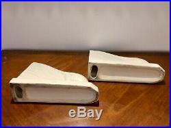 Paire de serre livre céramique craquelée figurant deux faisans. Epoque Art Déco