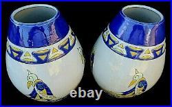 Paire de vase en céramique Art Déco KERALOUVE modèle 509-2