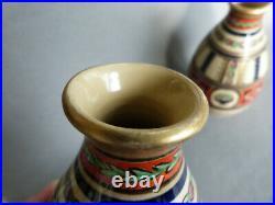 Paire de vases céramique Alfred Renoleau Angoulême Art Déco Marquise de Sévigné