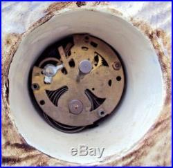 Pendule céramique art-déco marque HB BELGIUM