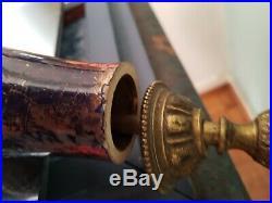 Pied De Lampe A La Danseuse Ceramique Art Deco Bleu & Or Gout De Mayodon 1940