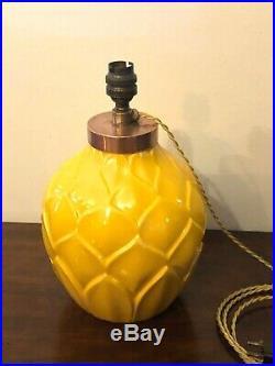 Pied De Lampe Ananas En Ceramique, St Clement, Rare, Art Deco, 1920