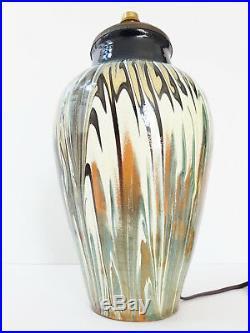 Pied De Lampe Ceramique Art Deco 1940 1950 Vintage 40s 50s