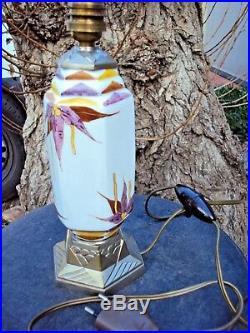 Pied de lampe art-déco en céramique