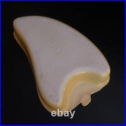 Plat récipient céramique faïence barbotine légume MARS art déco France N4228