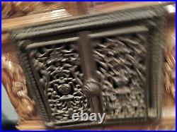 Poele A Bois En Ceramique D'epoque Art Deco