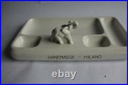 Porte crayons de bureau Art déco céramique éléphant (46951)