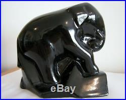 Primavera Rare elephants céramique noire serres livre Claude Levy 1930 art deco