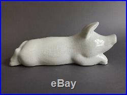 Primavera craquelé cochon en céramique Art Déco vers 1930