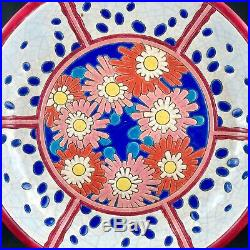 RARE COUPE Faïence EMAUX DE LONGWY Céramique Craquelé Art Déco 1930 primavera