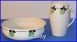 RARE ensemble de toilette faïence de SOMAIN decors pommes 211 début 20ème