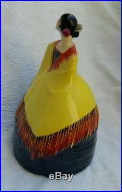RARE statuette Art Déco céramique, porcelaine Espagnole signée Robj Paris